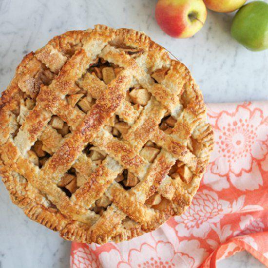 lattice top apple pie indulgent recipes pinterest pies