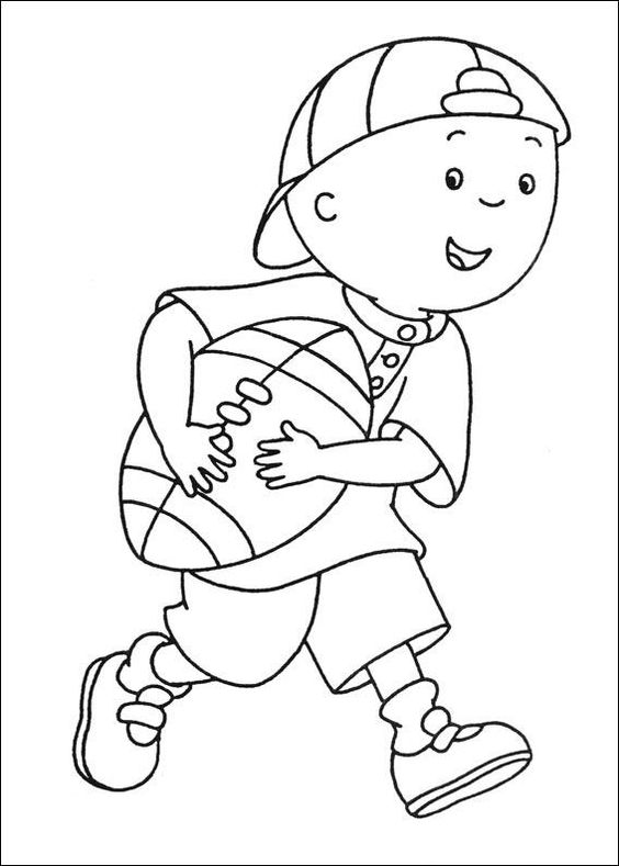Caillou coloring pages wish I could print these