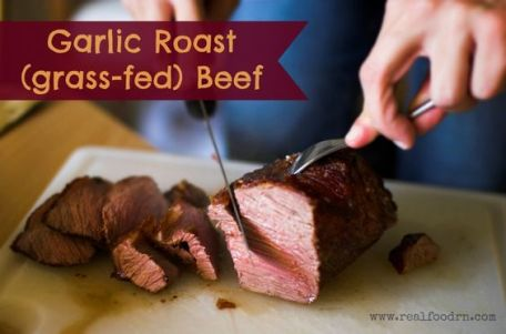 Ingredients: 1 beef roast 4 cloves garlic 2 Tbps apple cider vinegar (tenderizes the meat) salt and pepper Directions: In a hot skillet, sear the roast o:
