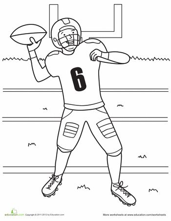 Football players, Worksheets and Coloring pages on Pinterest