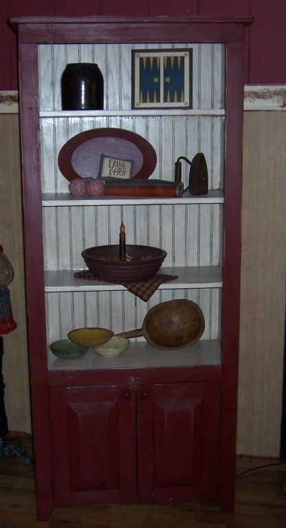 Bookcase painted in Cranberry  Your Olde Century