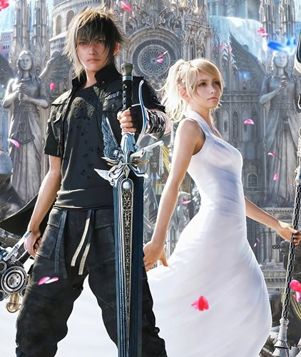 Image result for noctis and luna