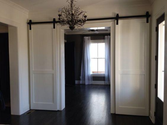 Custom Sized, Interior Double Barn Doors   European Antique Pine Warehouse & Custom Barn Doors: