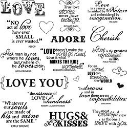 Fiskars Lasting Love 8x8-inch Quote Clear Stamp Sheet by