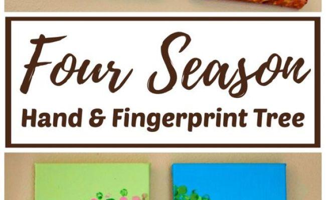 Diy Four Season Hand And Fingerprint Tree Fingerprints