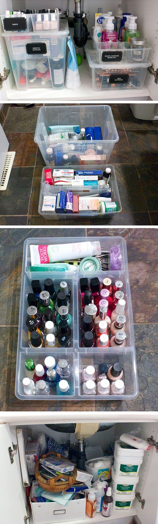 Organize Under Bathroom Sink Ideas