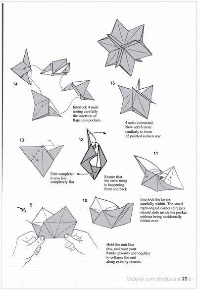 Adobracya: Diagrama Do Kusudama Sunken Silver Star