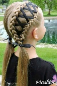 Braided ribbon hairstyle | Beauty and such | Pinterest ...
