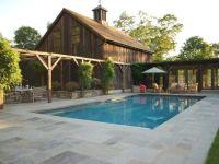 Stone Pool Deck Country Landscape Design Hoffman ...