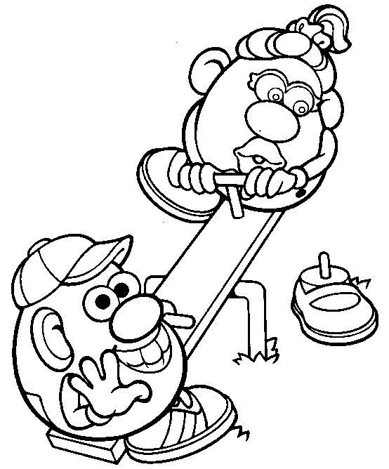 Mr Potato Head Pattern Sketch Coloring Page