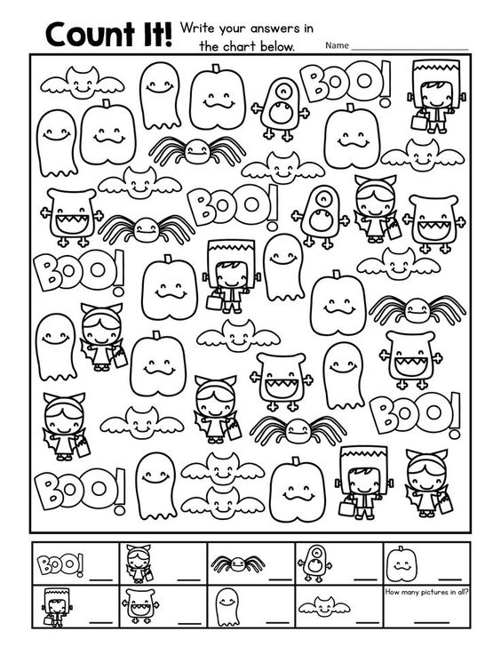 A Fun Halloween Freebie: Count It! This download is a