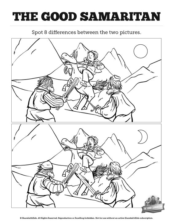 The Good Samaritan Kids Spot The Difference: Can your kids