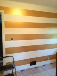 Stripes, Stripe walls and Gold on Pinterest