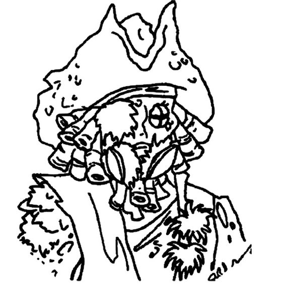 Face Davy Jones Pirates Of The Caribbean Coloring Page