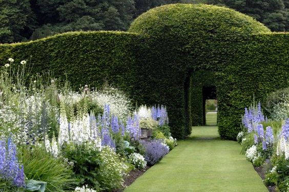 Gardens at Levens Hall in Kendal, UK: