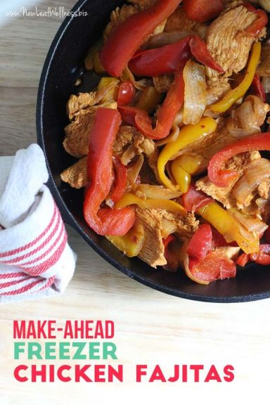Make Ahead Freezer Chicken Fajitas: