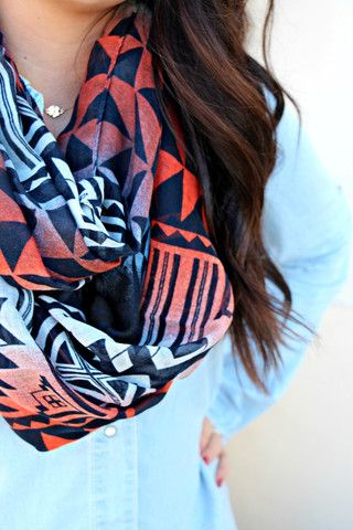 Geometric Infinity Scarf | uoionline.com: Women's Clothing Boutique: