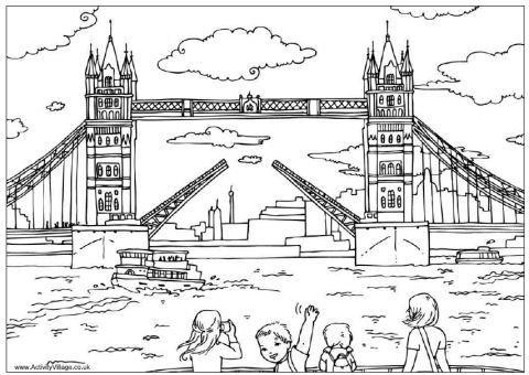 London, Coloring pages and Coloring on Pinterest