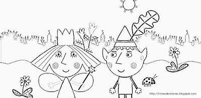 Blog de los niños: Ben and Holly's little Kingdom coloring