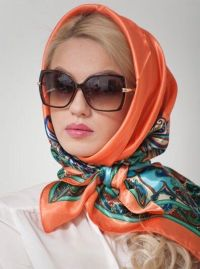 Head scarfs, Scarfs and Orange on Pinterest