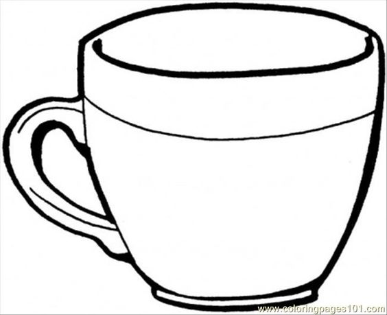 cup coloring pages  crockpot recipes  pinterest