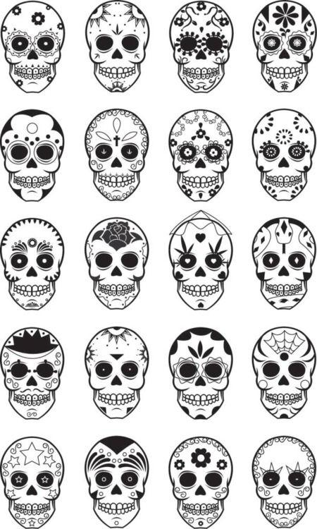 Skulls, Sugar skull and Dia de on Pinterest