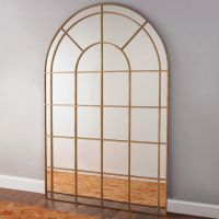 Window Lattice Leaning Mirror | Master bedrooms, The wall ...