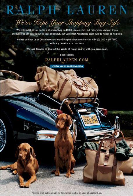 Abandoned Cart Email Template - Ralph Lauren