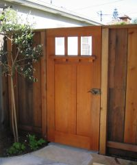 So pretty for a side yard gate.   Backyard project ...