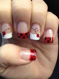 Ladybug nails.