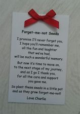 Personalised Forget Me Not Seed Envelope Gift Present