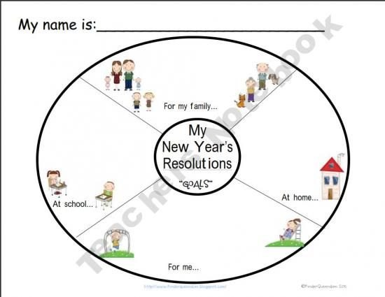 New Year's, Little ones and Graphic organizers on Pinterest