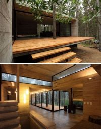 Woods, Wood patio and Modern on Pinterest