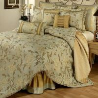 A luxury floral bedding collection in hues of sage green ...