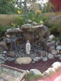 Backyard Mary grotto | For the Home | Pinterest ...