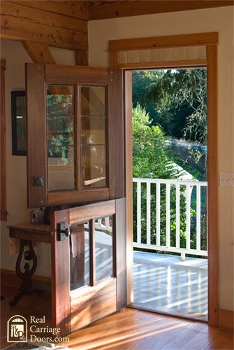 I love these doors.  Close just the bottom in the spring and fall and feel the…: