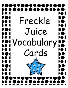 Freckle juice, The definition and Word walls on Pinterest