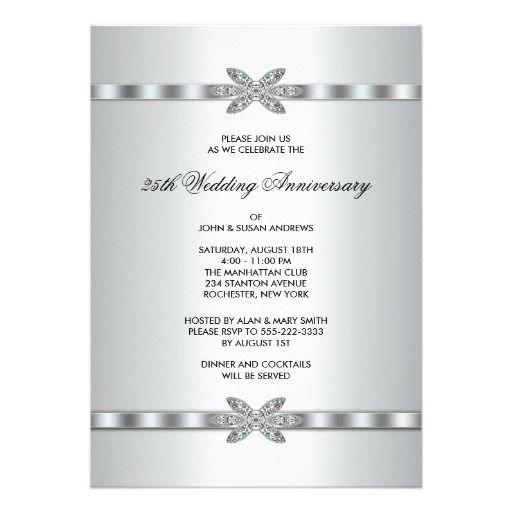 Silver Wedding Anniversary Invitation Wording – Anniversary Party Invitations Wording