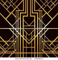 Art deco geometric pattern (1920's style) - Shutterstock ...