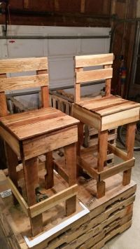 Pallet Bar #Chairs - 125 Awesome DIY Pallet Furniture ...