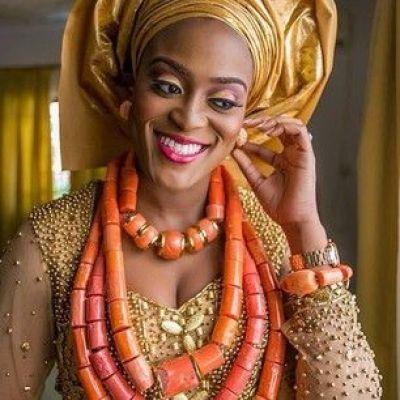 I LOVE the coral jewelry!  @mrshemz on her #trad day! Photo by @Joko Tade, dress by @hudayya! I'm in love with #igboweddings! HML dear! ❤❤❤❤ #igbo #traditional #wedding #nigeria #naija #rivers #imo #fabulous: