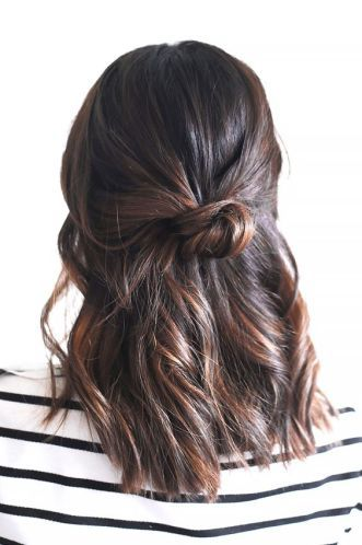 Add a bun to your long bob hairstyles!