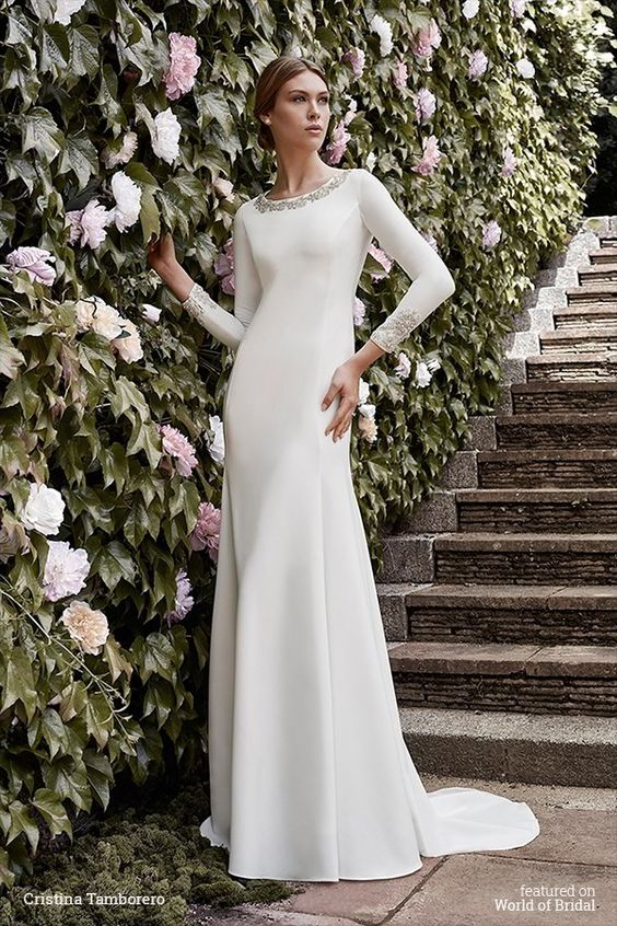 25 Modest Wedding Dresses With Long Sleeves Lds Wedding