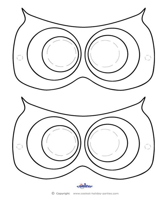 Free printables, Mask template and The o'jays on Pinterest