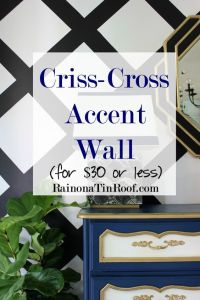 Criss-Cross Accent Wall for $30 or Less | Geometric shapes ...