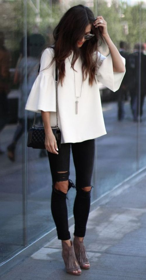 black and white style: street chic trends: