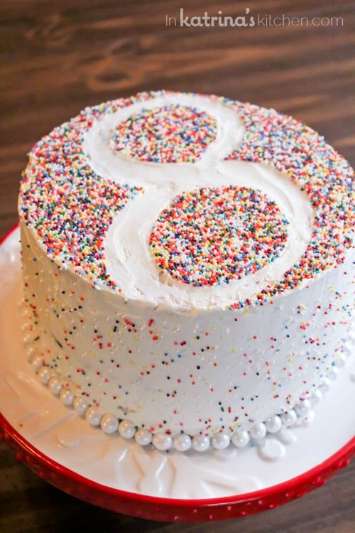 Birthday Numbers Number Cakes And Sprinkles On Pinterest