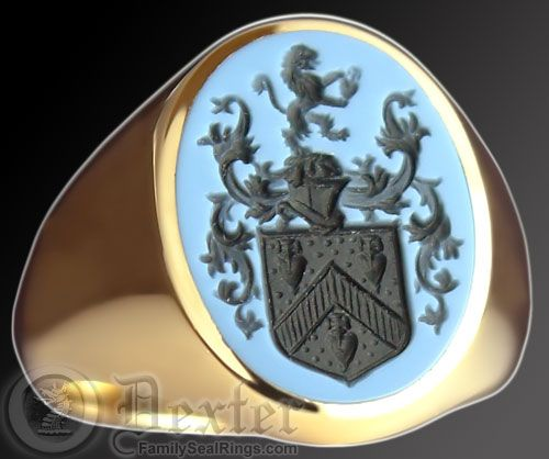 Signet Ring Sardonyx Stone And Coat Of Arms On Pinterest