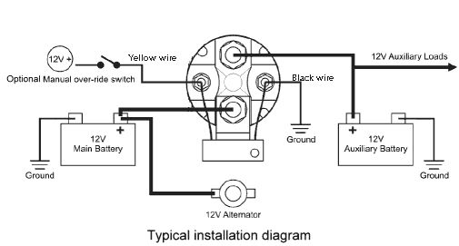 Installation diagram for battery isolator Inexpensive 12