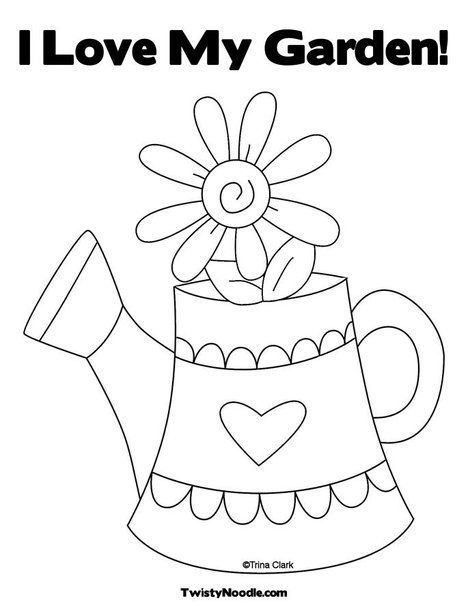 Gardens, Coloring and Cute coloring pages on Pinterest